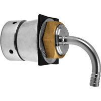 Gooseneck Tower Shank Assembly - Stainless Steel - Kegerator Parts - Draft Beer