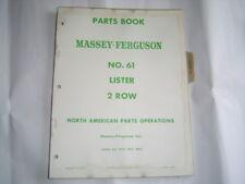 Massey Ferguson MF61 plant lister parts manual catalog