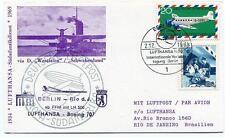 FFC 1973 Lufthansa First Flight Boeing 707 LH 500 Rio De Janeiro Brasil Berlin