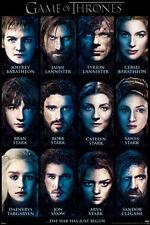 Game of Thrones Characters poster! Robb Jon Arya Tyrion Sansa New! Never Hung!