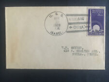 1939 US Navy Post Office Kiukiang China Cover to USA USS Isabel
