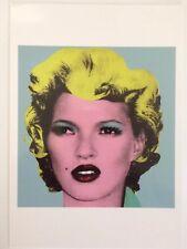 Banksy Authentique Kate Moss huiles brutes montrent un encart publicitaire carte postale 2005