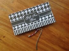 2 Red Beaded Metal Bookmarks + Card ~ Makes a nice gift!