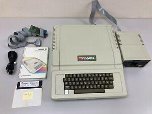 Vintage 64k Apple II+ Computer A2S1016 w/ Apple Disk Drive, Microsoft Mem Card