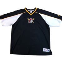 Pittsburgh Pirates Majestic Embroidered Logo Pullover Warm Up Jersey, Size 2XL?