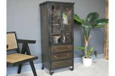 Industrial Metal Display / Storage Cabinet 2 Doors 3 Drawers
