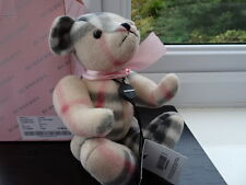 100% Authentic Vintage Burberry Pink Jointed Teddy Bear NWT