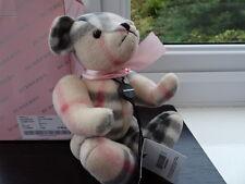 100% Authentique Vintage BURBERRY rose Articulé Teddy Bear Neuf avec étiquettes