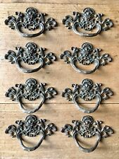 Set Antique Drawer Pull Handles Brass Door Vintage Victorian