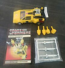 1984 Transformers G1 Autobot Cars Pre Rub Sunstreaker Figure Complete Takara