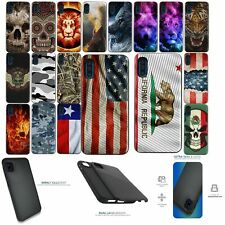 Case For [Samsung Galaxy A01 (2020)][EMBOSSED DUO SET1] Dual Layer Shock Cover