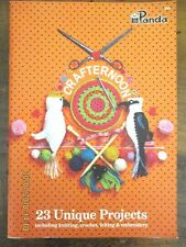 PANDA PATTERN No. 700-CRAFTERNOON-KNIT, CROCHET, FELTING, EMBROIDERY-23 PROJECTS