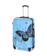 Maletas y equipaje azul rígido con 4 ruedas