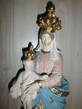 ANCIENNE STATUE RELIGIEUSE/NOTRE  DAME  DE VICTOIRES/ LA VIERGE /PLATRE/H.47cm