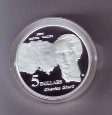 1994 $5 SILVER Proof out Masterpieces Set Charles Sturt NSW Explorer **