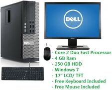 "Cheap PC Set Intel Core 2 Duo 2.0GHz 4GB Ram 250GB HDD Wifi Windows 7 19"" LCD"