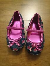 Girls Size 6 Denim Pink Sparkly Walkright Shoes New Never Worn