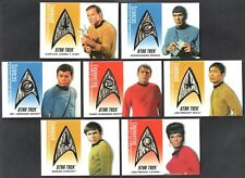 "STAR TREK 40TH ANNIVERSARY ""DELTA SHIELD PATCH"" Card Set DS1-DS7 (all #275/350)"