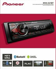 NEW Pioneer MVH-S21BT Single DIN MP3/WMA Digital Media Player Bluetooth AUX USB
