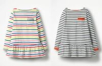 EX-BODEN GIRLS JERSEY RAINBOW STRIPY POCKET TUNIC TOP BNWOT AGES 2-10