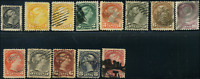 Canada #34-45 used F/VF 1870-1897 Queen Victoria Small Queen Part Set cancels