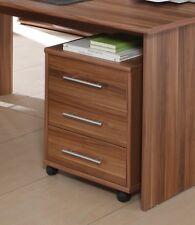 Rollcontainer Omega, Walnuss, Schrank, Schreibtischcontainer, Bürocontainer