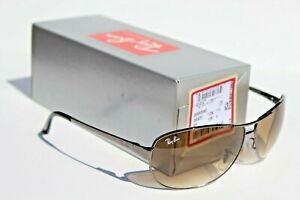 RAY-BAN Sunglasses RB3342 004/51 63 Gunmetal/Crystal Brown Warrior NEW Italy