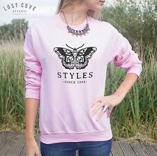 Styles Since 1994 Sweater Top Sweatshirt Jumper Grunge Harry Butterfly Tattoo