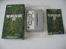 Secret of Mana Super Nintendo PAL english language SNES