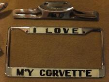 Original Corvette Chrom Nummernschild Rahmen chrome number plate frame 50s 60s