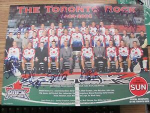 NLL Toronto Rock Jim Veltman Colin Doyle 2003-04 Autographed Photo 9 x12