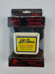 Vintage L.L. Bean Digital Quartz Pedometer walking distance meter Needs Battery