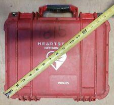 Pelican 1400 Philips Heartstart hard case in good condition YC Orange with foam!