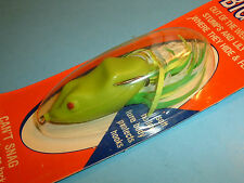 Snag Proof SK Frog Chartreuse Soft Body Topwater Weedless Fishing Lure - NOC