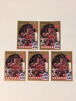 1990-91 NBA HOOPS #21 KARL MALONE ALL-STAR UTAH JAZZ LOT OF 5