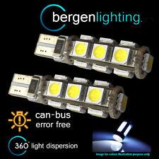 2x W5W T10 501 Canbus Libre De Errores Blanco 13 BOMBILLAS LED para matrícula