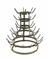 "Wine Bottle Drying Rack, Sm. Holds 44 Bottles, Natural Gray Iron-18.5""H X 17""W"