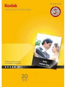 "Kodak Ultra Premium Photo Paper 7x5"" 13x18cm 280gsm Satin Brand New 40 SHEETS"