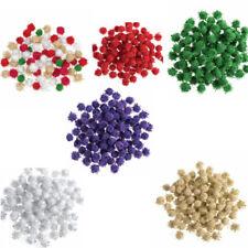 Trimits 100 x 7mm Metallic Pom Poms Embellishments Craft Trimmings Accessories
