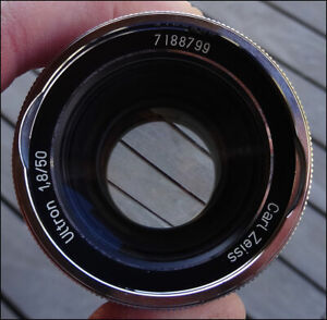 OBJECTIF CARL ZEISS ULTRON 1.8 50mm MONTURE ICAREX ZEISS IKON
