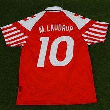 """Denmark Men's Retro Soccer Jersey, Euro 92, M. Laudrup #10, """"Replica"""""""