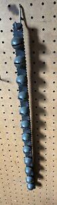 Primitive Antique String Of Sleigh Bells Leather Strap