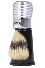 Large Shaving Brush Chrome With Stand Pig Bristles 24mm IN Dachs-Optik Omega