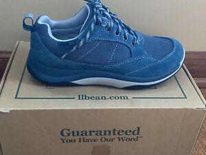 LLBEAN Womens Waterproof Snow Sneaker Deepwater Blue Size 6.5M