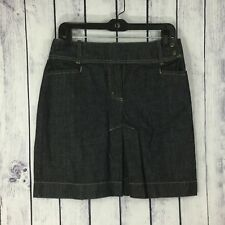 NYC New York & Company Womens Denim Jean Skirt Size 6 Pleated Side Snap A18-14