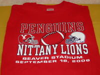 Youngstown State PENGUINS Penn State NITTANY LIONS Football 2006 T-Shirt Nice LG