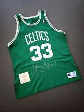 100% Authentic Larry Bird Vintage Champion Celtics Signed Jersey Mens - Pro Cut