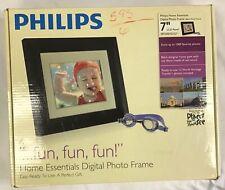 "Philips Home Essentials Digital LCD Photo Frame 7"" Black Frame SPF3007D/G7 -USED"