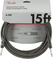 Genuine Fender Professional Series Guitar/Instrument Cable, GRAY TWEED - 15'ft