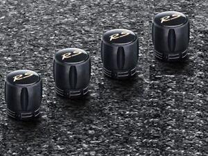 Set New Genuine Porsche RS Arum Logo Black Valve Dust Caps TPMS 991 044 603 71